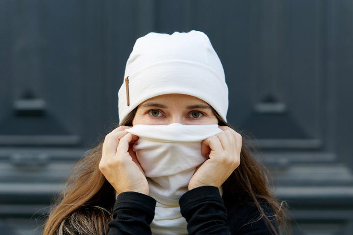 écharpe snood en laine mérinos pour cyclistes urbains Lady Harberton cache-nez