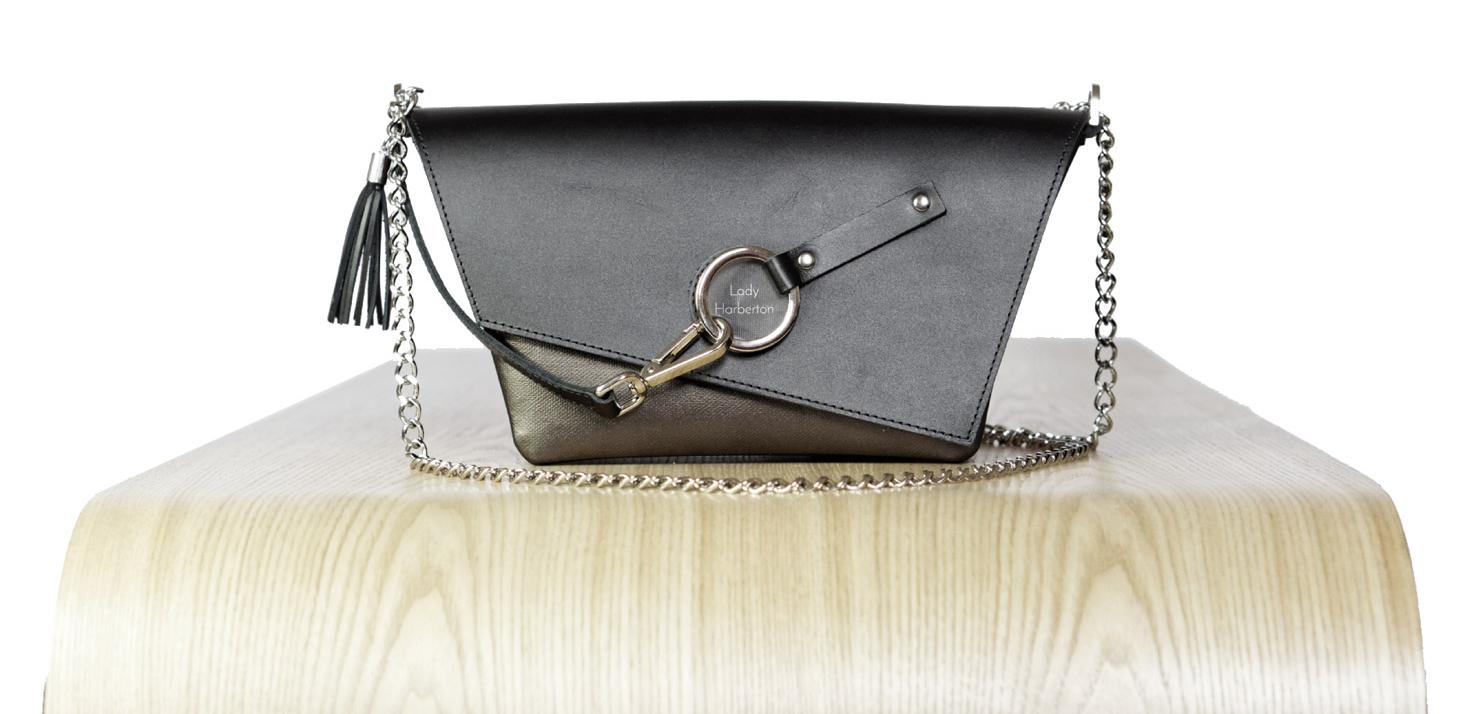 Vue de face du sac à main pour velo : Le messenger de Lady Harberton