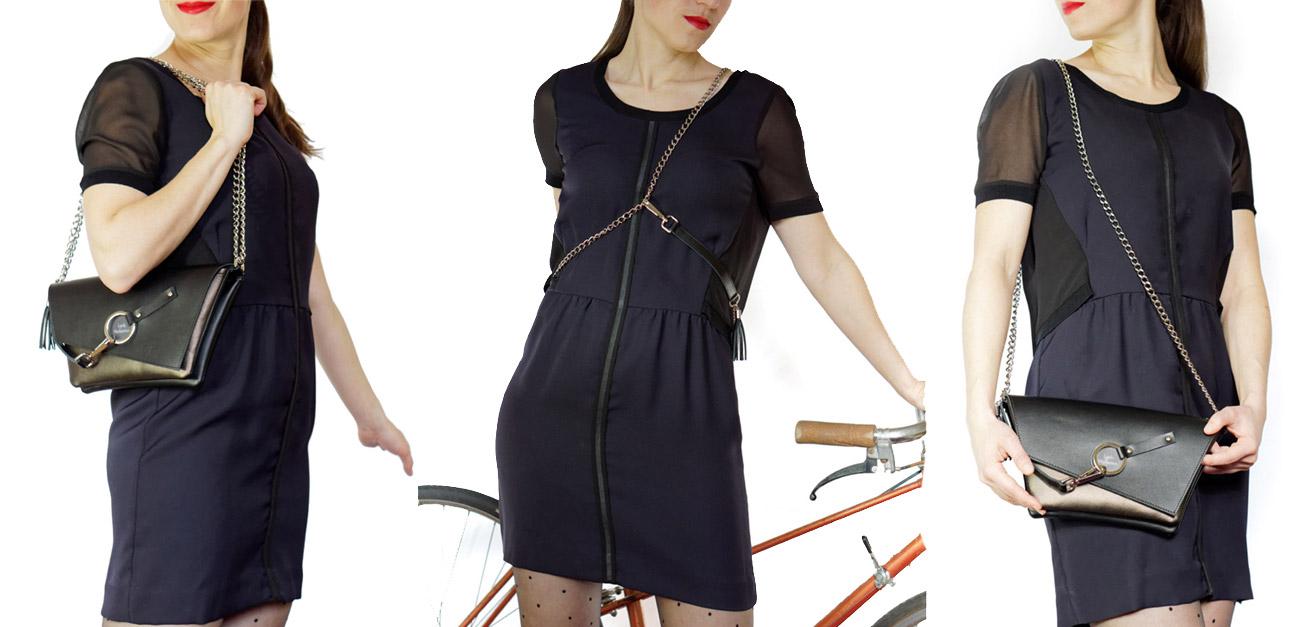 feminine en toute circonstance à vélo