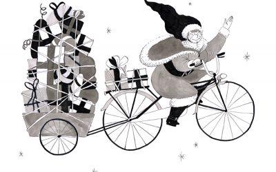 En 2016, même la mère Noël se met au vélo, Joyeux Noël !