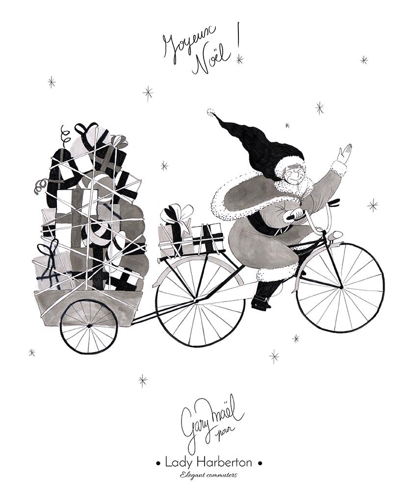 vélo mère noël Gary Maël Lady Harberton