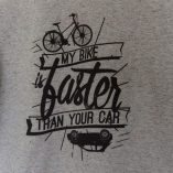 Tee-shirt homme velo my bike is faster than your car Lady Harberton