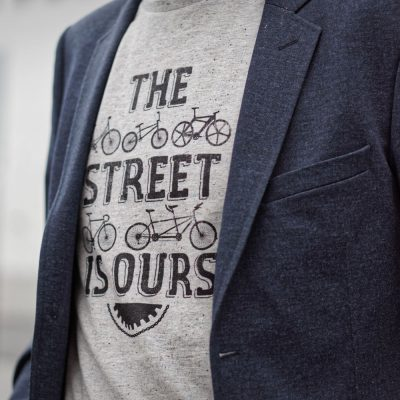 Tee-shirt homme velo the street is ours Lady Harberton