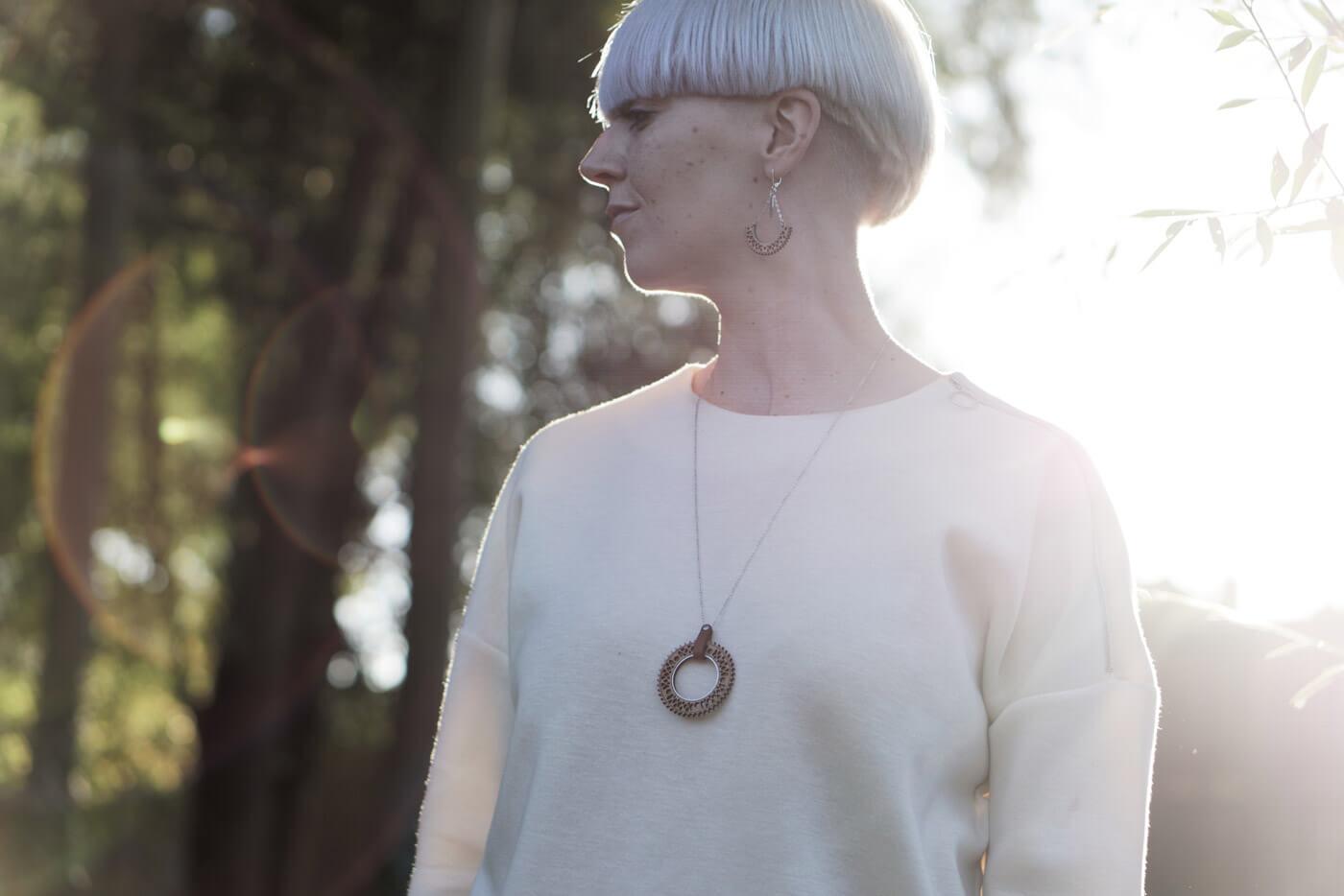 bijoux en bois collier sautoir boucle oreille femme fabrique en france