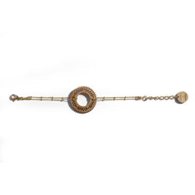 bracelet doré en bois Lady Harberton x bewood
