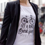 Tee-shirt femme velo get a bike break free Lady Harberton