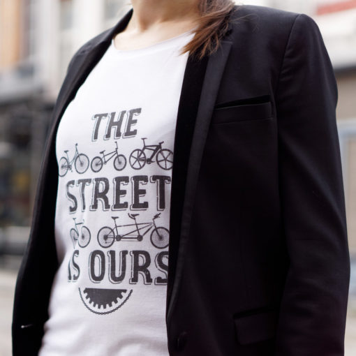 Tee-shirt femme velo the street is ours Lady Harberton