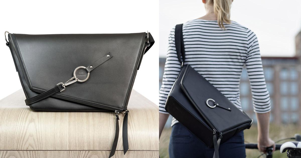 a23c0ce261f1 Acheter le sac à main en cuir noir Le Messenger