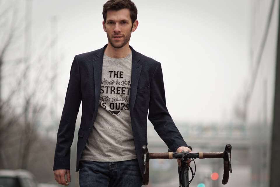 Cycling quote tee-shirt made in France for women and men Lady Harberton
