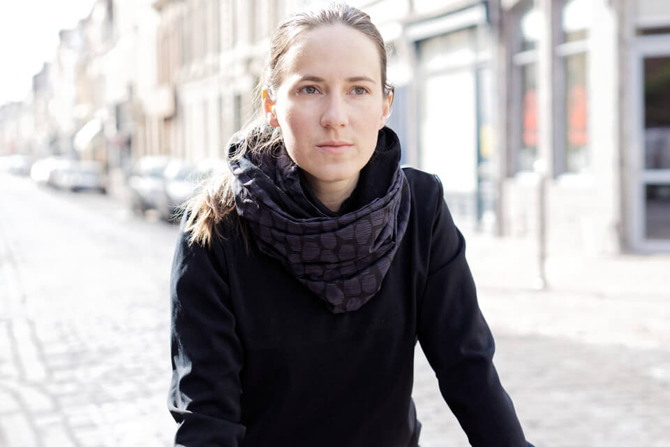 merino wool snood scarf for urban cyclists Lady Harberton