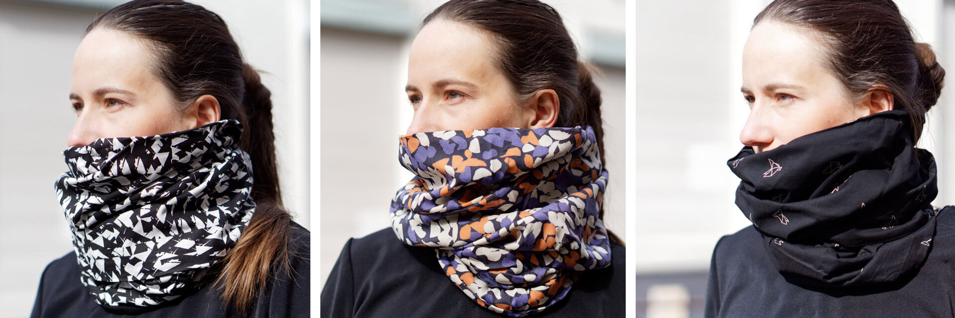 patterns and colors of the snood scarf for ladies Lady Harberton
