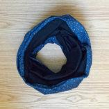 echarpe-snood-homme-laine-merino-lady-harberton-bleu-points-blanc