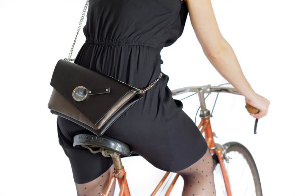 leather evening clutch bag cyclist handbag lady harberton