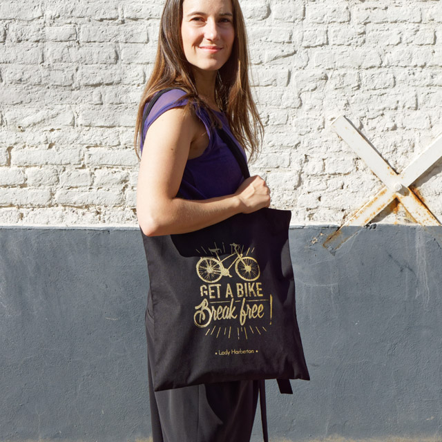 black and golden tote bag for women Lady Harberton