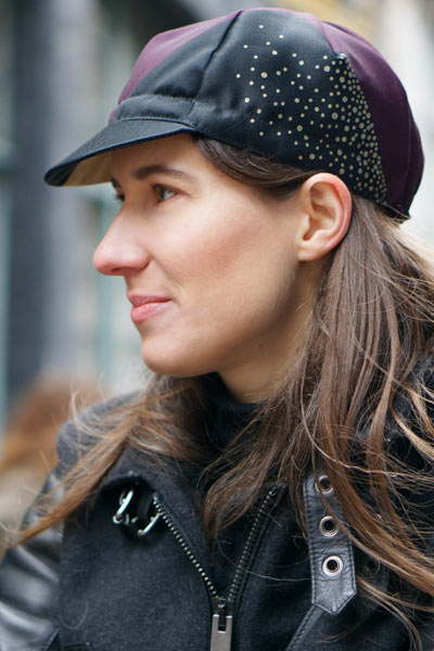 cycling cap for women Lady Harberton Vera Cycling silkscreen printing details