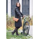 pochette en cuir Camel lady harberton cycliste