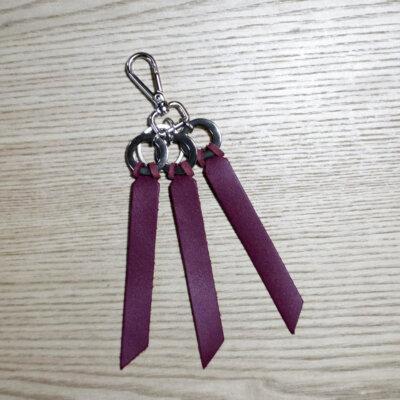 porte-clés cuir bordeaux Lady Harberton