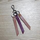 porte-clés cuir camel et bordeaux Lady Harberton