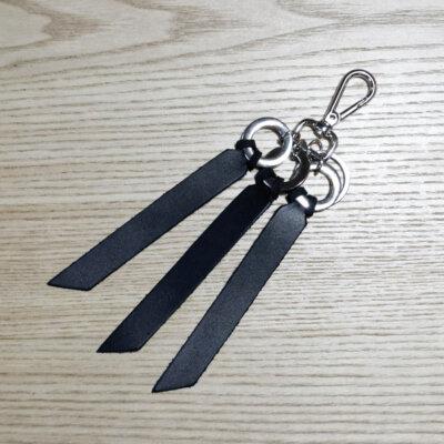 porte-clés cuir noir Lady Harberton