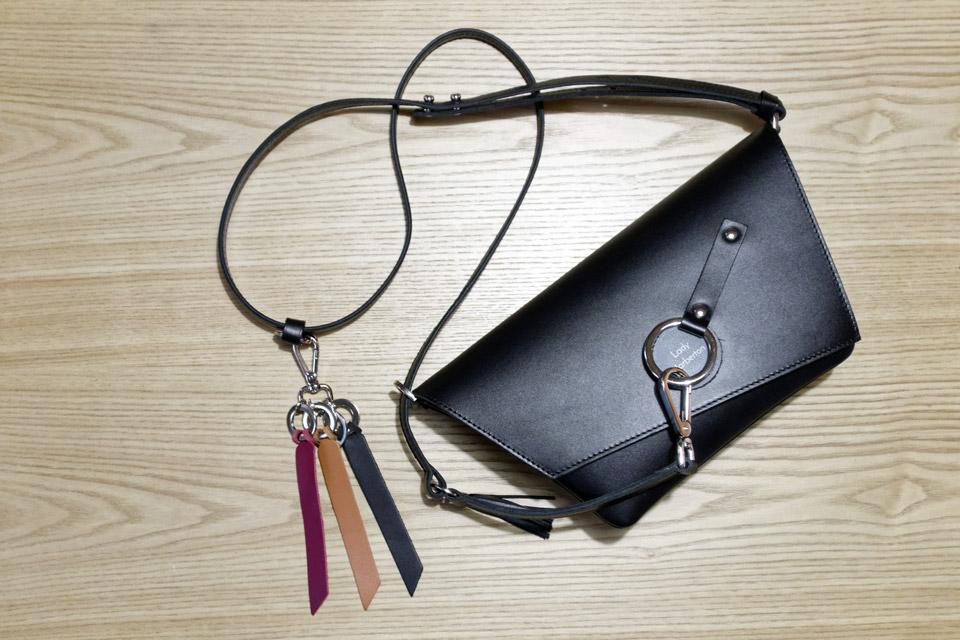 porte clés en cuir avec mousqueton Lady Harberton