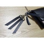 porte-clés cuir noir Lady Harberton mousqueton