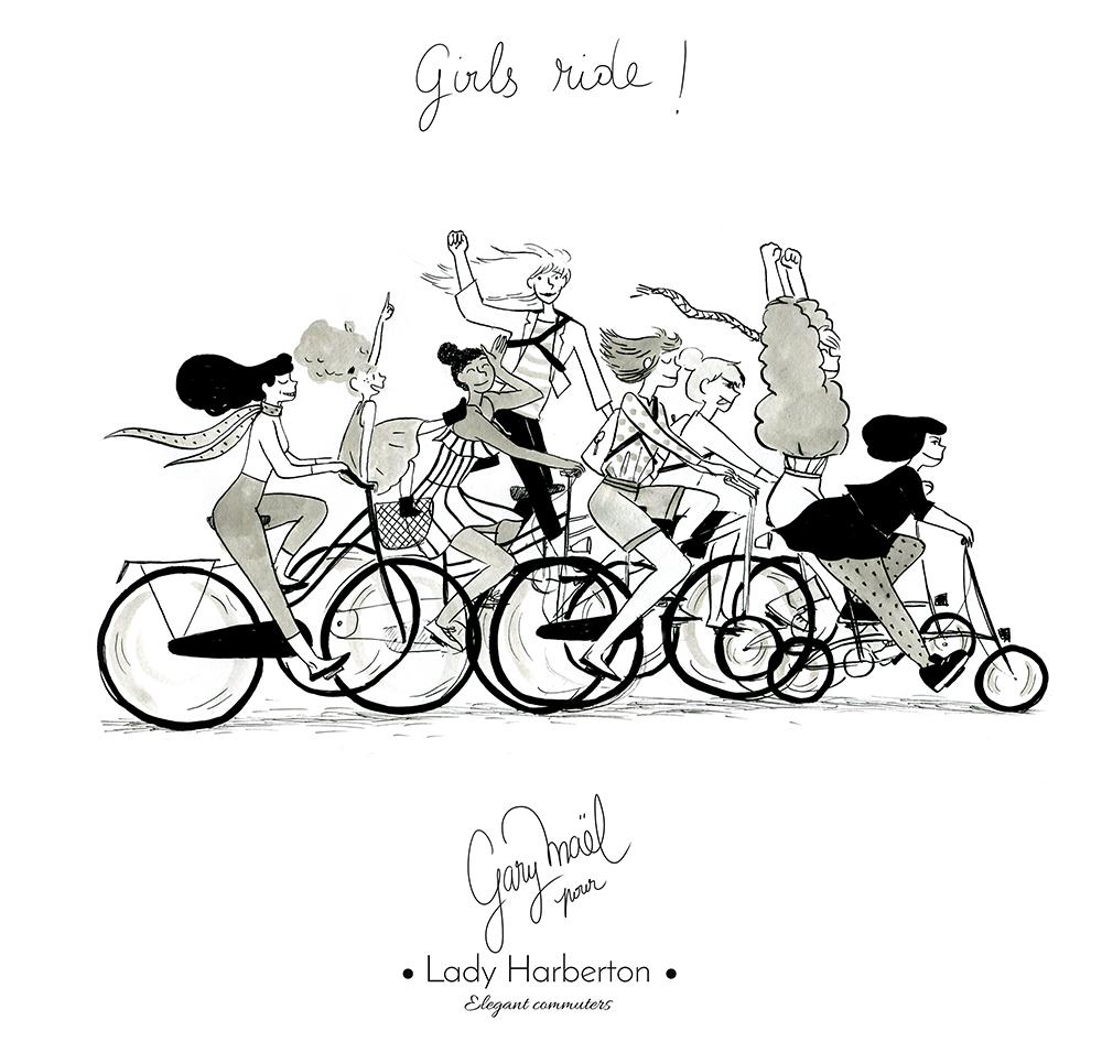 Ride à vélo femmes