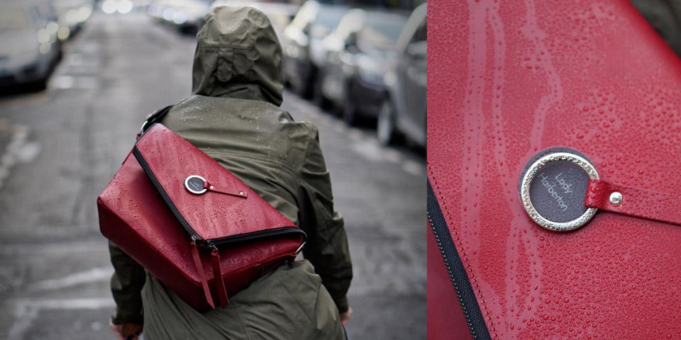 faire du vélo en hiver sac en cuir qui ne craint pas la pluie Lady Harberton