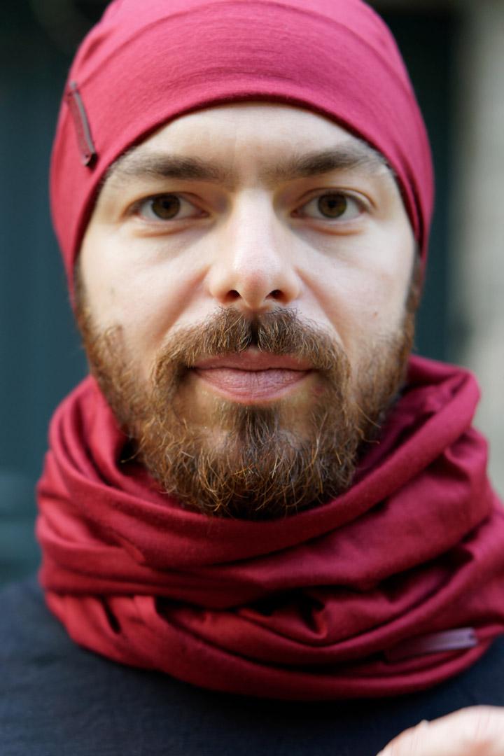 Bonne rouge bordeaux en laine mérinos pour homme lady harberton