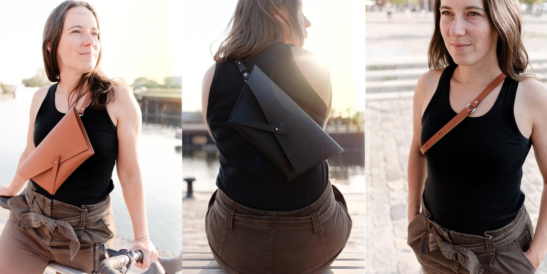 Sac Banane Lady Harberton sac en cuir minimaliste fabriqué en France