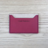 porte cartes minimaliste en cuir bordeaux made in france Lady Harberton