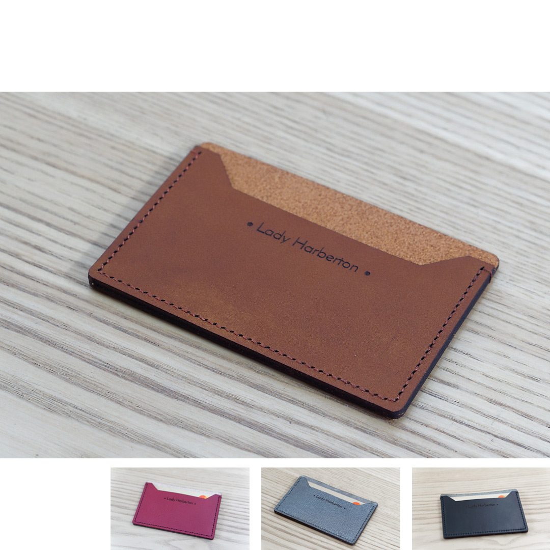 porte carte en cuir Acheter le Porte cartes minimaliste en cuir Made in France   Lady