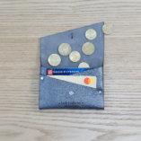 porte monnaie et carte en cuir argent made in france lady harberton