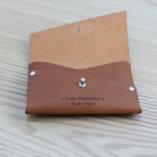 porte monnaie en cuir camel tannage végétal petite maroquinerie Lady Harberton Made in France