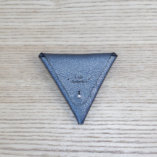 porte monnaie triangle cuir argent made in france lady harberton