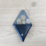 porte monnaie triangle cuir noir made in france lady harberton
