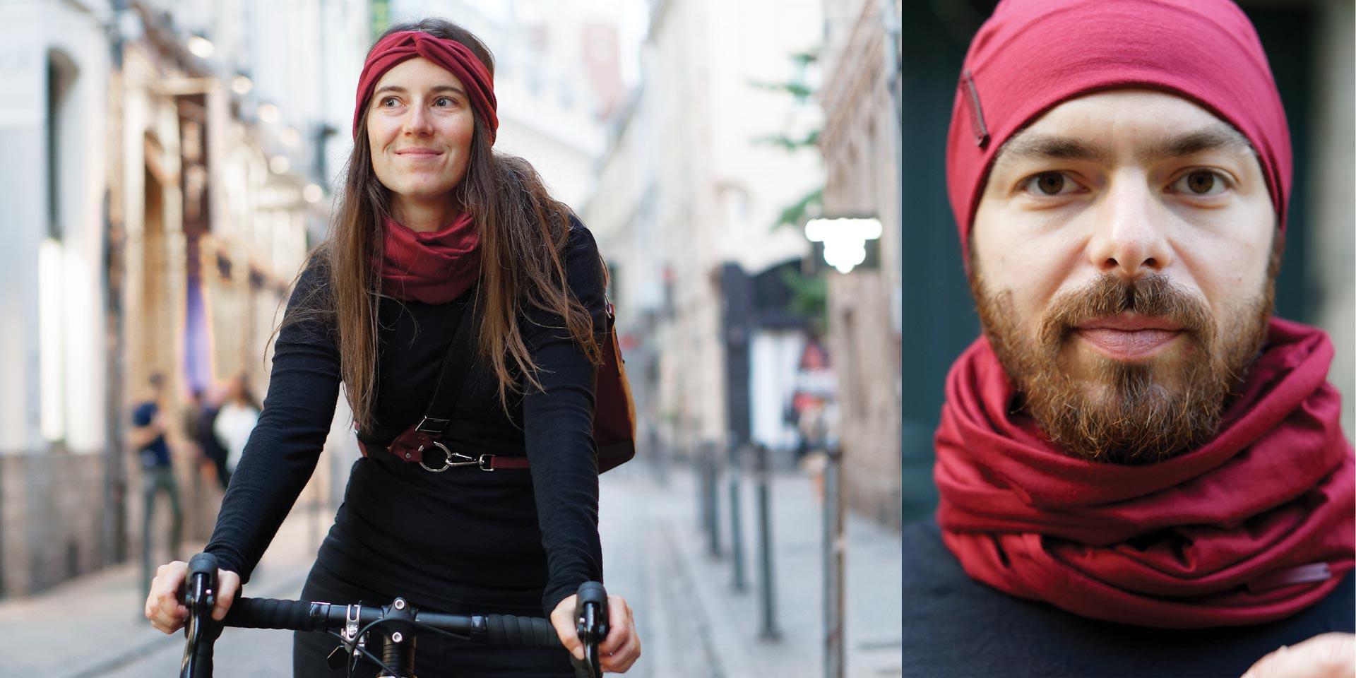 vêtements en laine mérinos idéal pour le cycliste urbain lady harberton