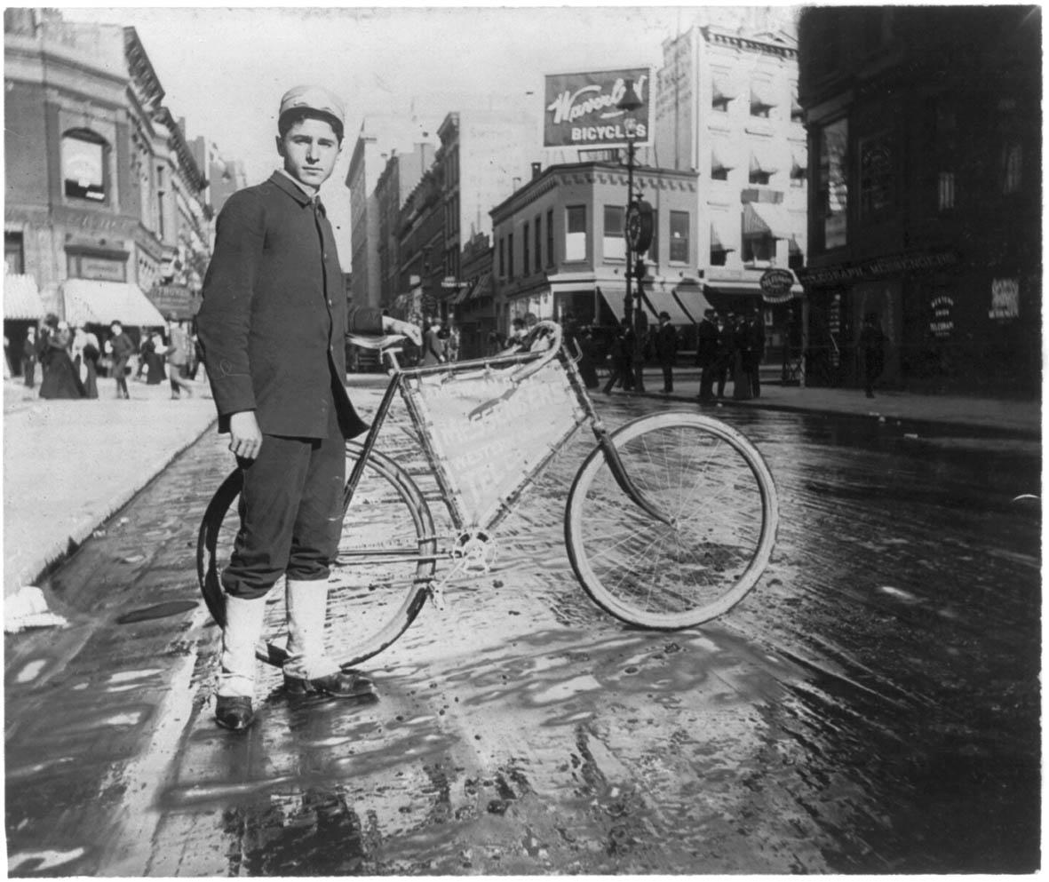 Coursier à vélo de Los Angeles, 1896