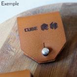 le range écouteurs et câbles en cuir personnalisé lady harberton exemple Cube RH