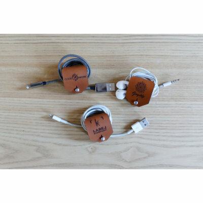 le range écouteurs et câbles en cuir personnalisé lady harberton