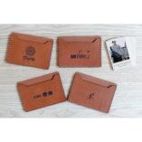 porte cartes de visites personnalise cuir lady harberton