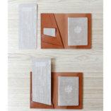 porte passeport et documents de voyage en cuir camel made in france lady harberton