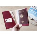 porte passeport en cuir bordeaux made in france lady harberton etui passeport luxe femme