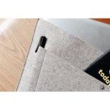 pochette ordinateur en cuir pleine fleur et feutrine de laine made in france lady harberton