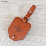 etiquette bagage en cuir personnalisée by Lady Harberton