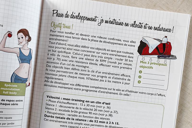 débuter en vélo de route - Mon cahier vélo training Camille Pic