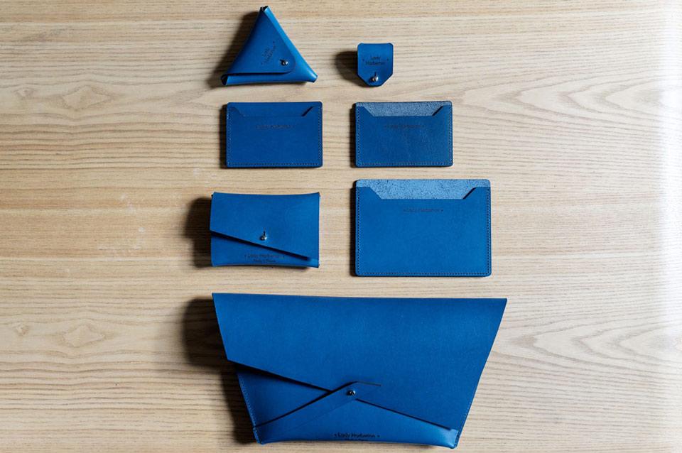 Sac Pochette  couleur Bleu Horizon Lady Harberton fabrication française