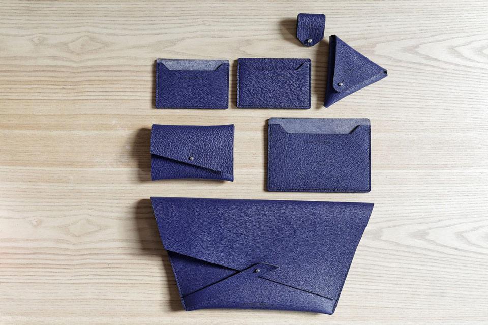 Sac Pochette couleur bleu Saphir Lady Harberton fabrication française