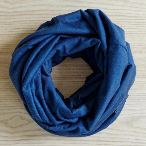 Lady-Harberton-Snood-Laine-Merinos-Bleu-Indigo