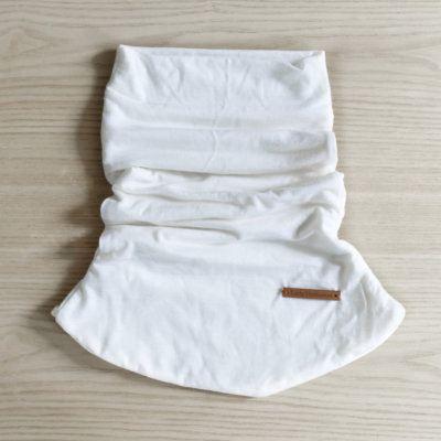 Tour de cou en laine mérinos blanche lady harberton unisexe made in france