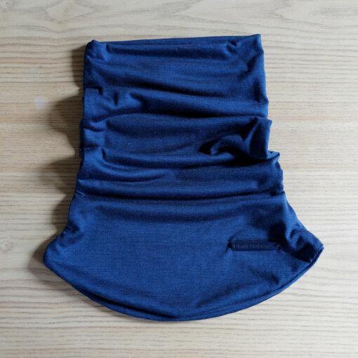 Tour de cou en laine mérinos bleue lady harberton unisexe made in france